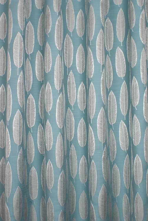 Quill Teal Curtain Fabric