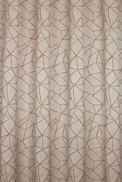 Atlas Copper Curtain Fabric