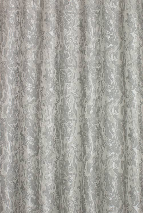 Canyon Silver Curtain Fabric