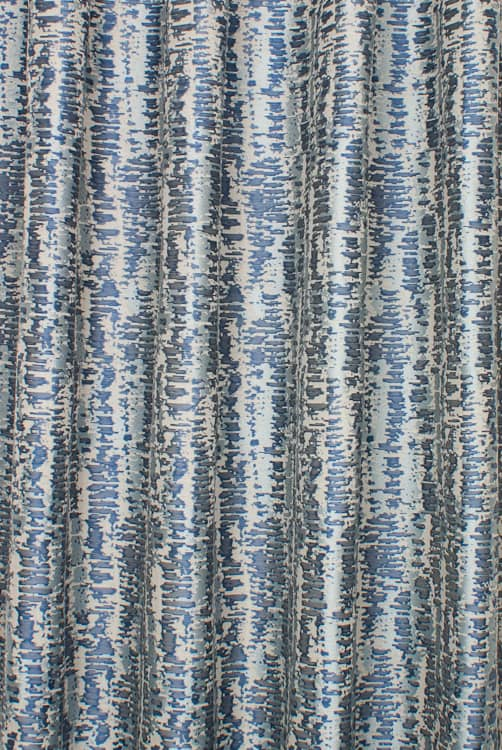 Century Indigo Curtain Fabric