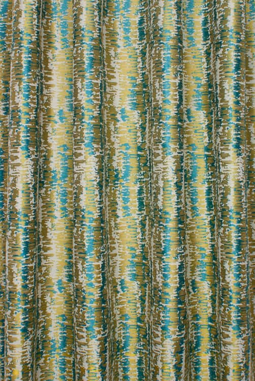 Century Teal Curtain Fabric