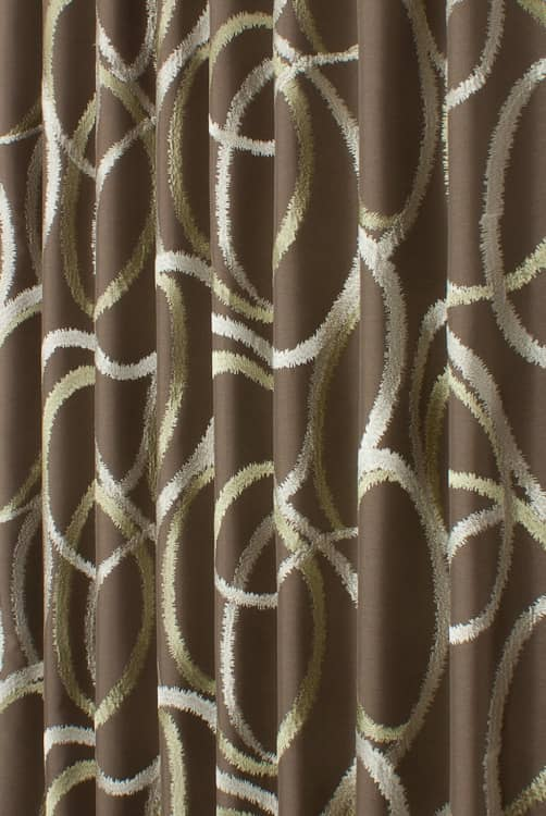 Garland Bronze Curtain Fabric