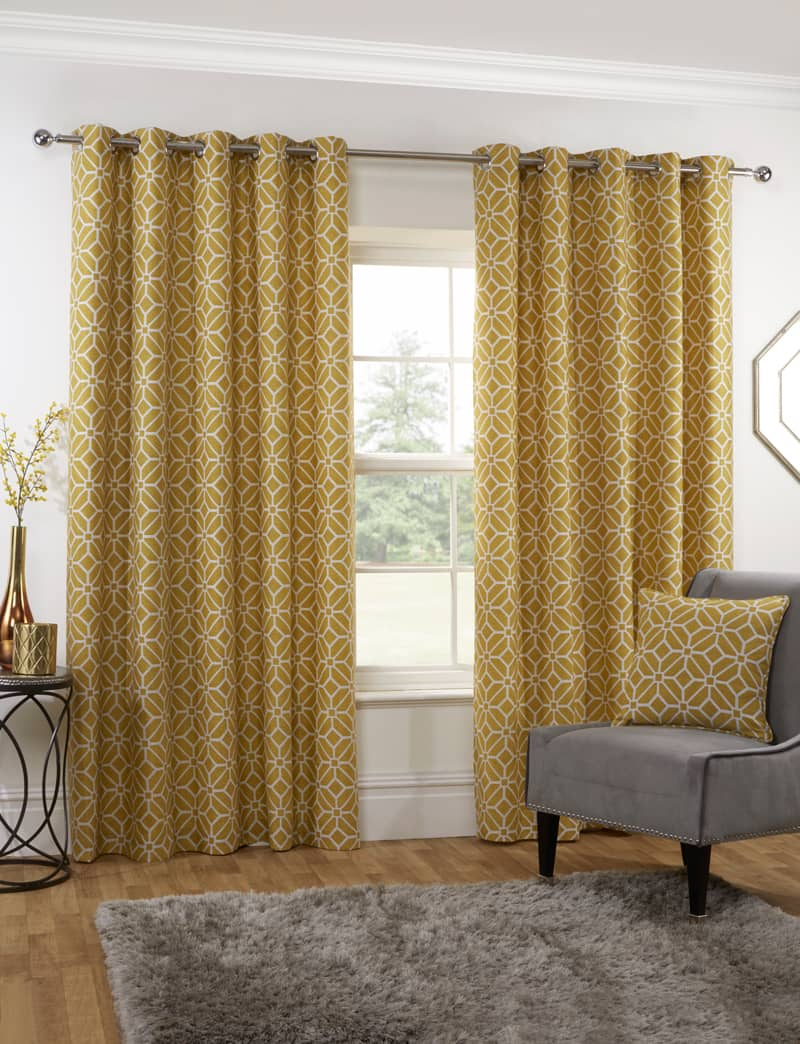 Kelso Ochre Ready Made Curtains