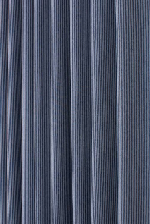 Denim Pin Stripe Indigo Made to Measure Curtains