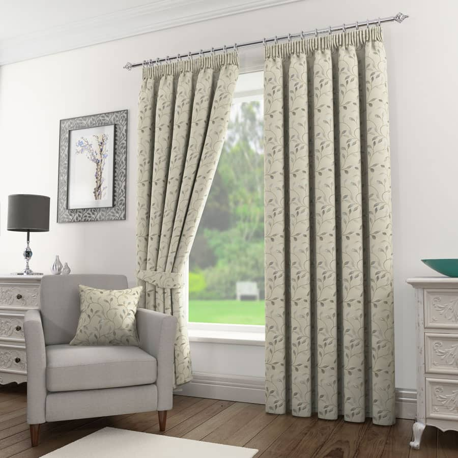 Sherwood Silver Ready Made Curtains