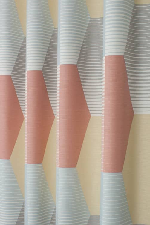 Hip Hop Pastel Pink Curtain Fabric