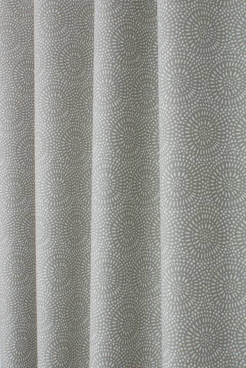 Whirl Pebble Curtain Fabric