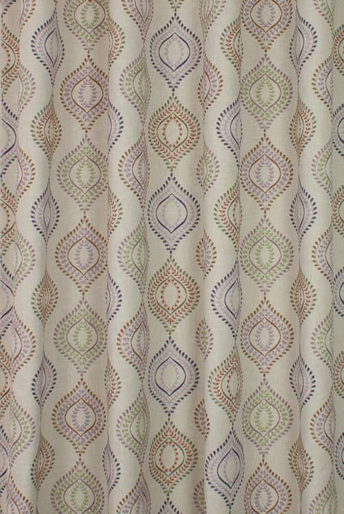 Ruby Thistle Curtain Fabric