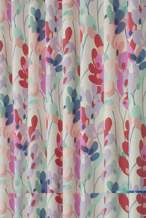 Twirl Raspberry Curtain Fabric