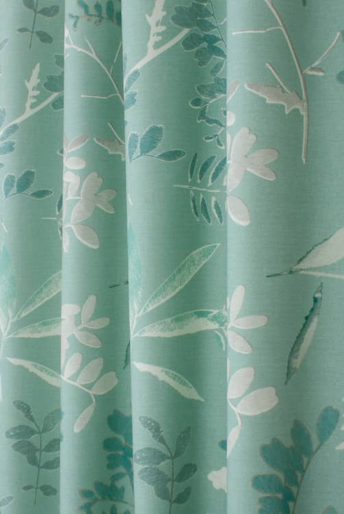 Anna Blue Curtain Fabric
