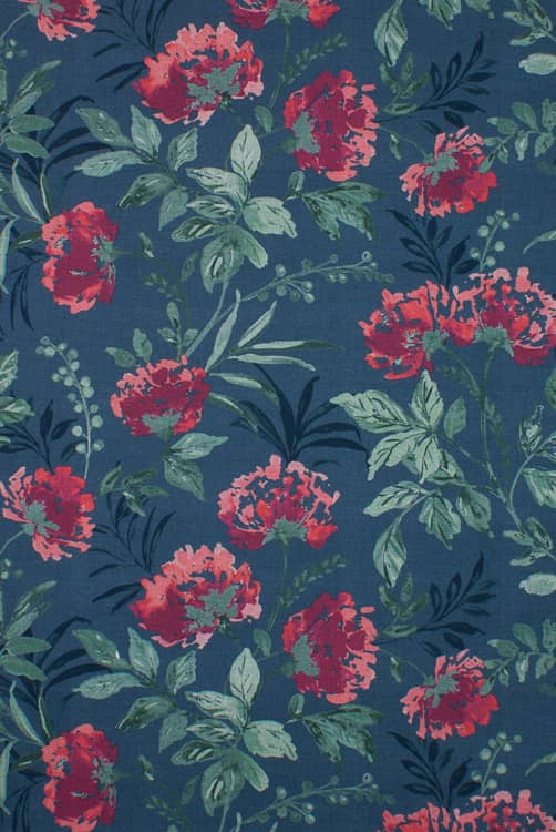 Ivy Berry Curtain Fabric