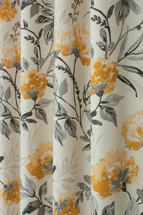 Ivy Lemon Twist Curtain Fabric