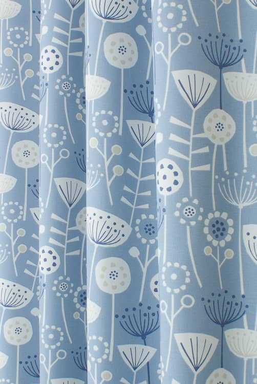 Bergen Blue Made to Measure Curtains