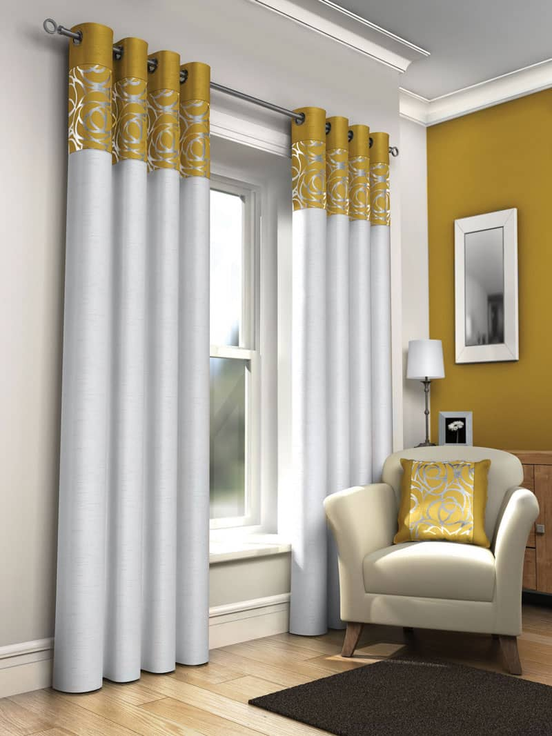 Skye Ochre Ready Made Curtains