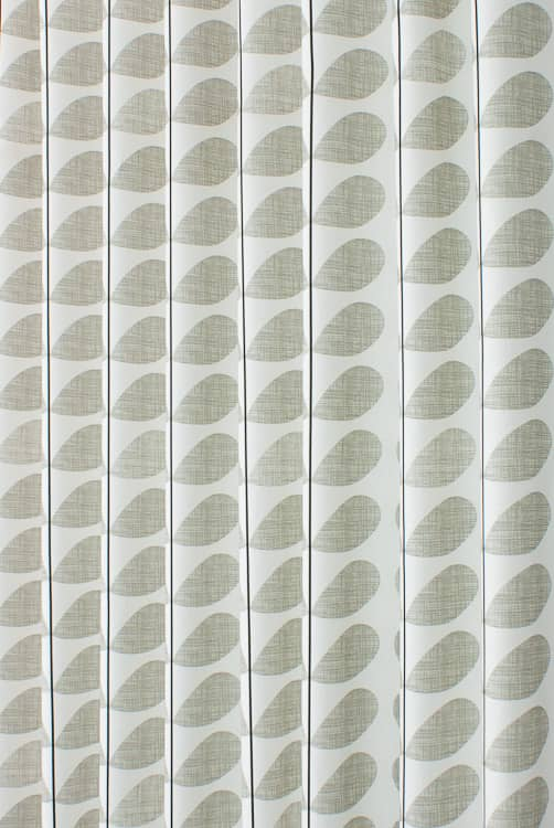 Scribble Stem Grey Curtain Fabric
