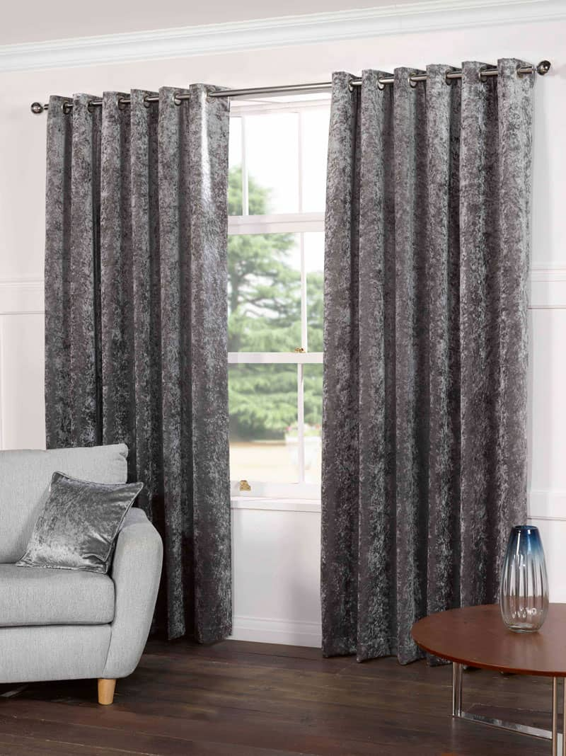 Kensington Silver Ready Made Curtains