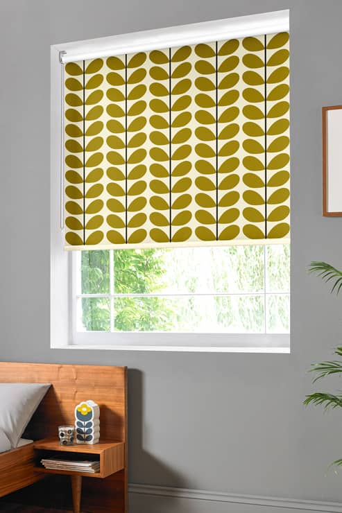 Two Colour Stem Olive Roller Roller Blinds