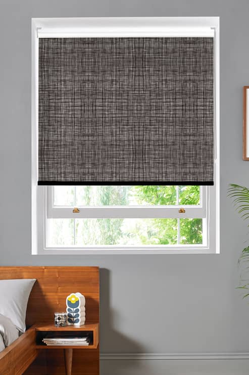 Scribble Gunmetal Roller Roller Blinds