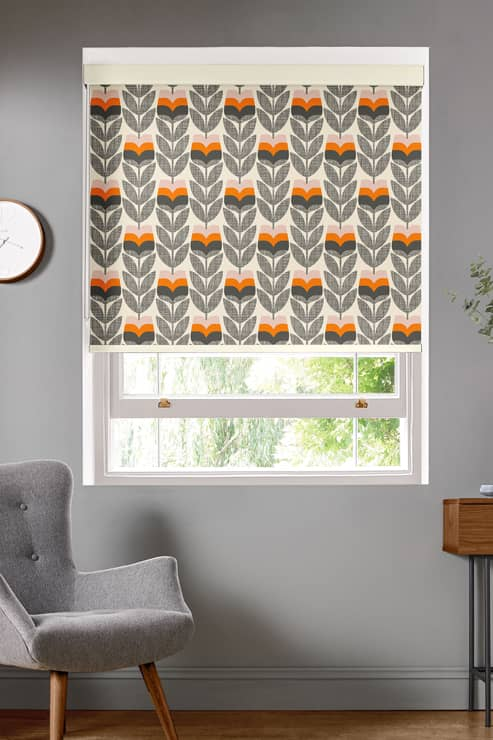 Rosebud Orange Roller Roller Blinds