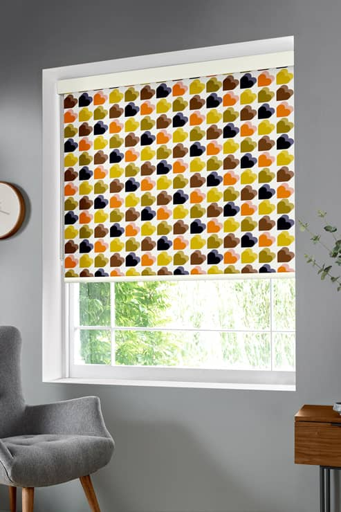Love Hearts Multi Roller Roller Blinds