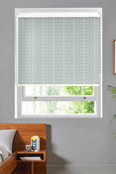 Linear Stem Duck Egg Roller Roller Blinds