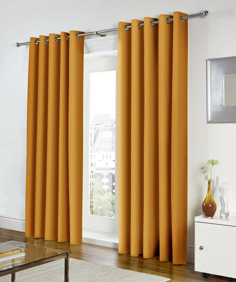 Freya Ochre Ready Made Curtains