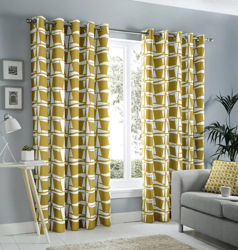 Capella Ochre Ready Made Curtains