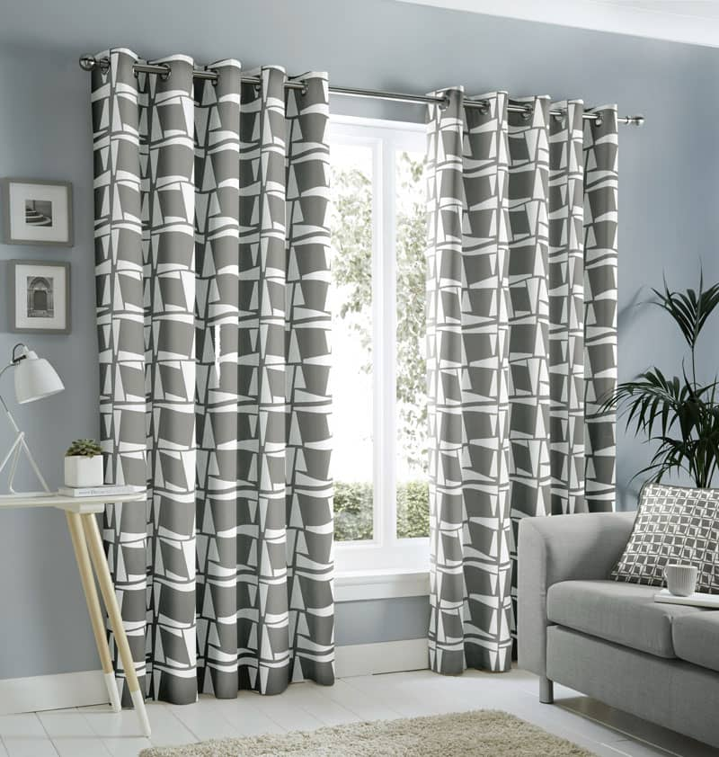 Capella Grey Ready Made Curtains