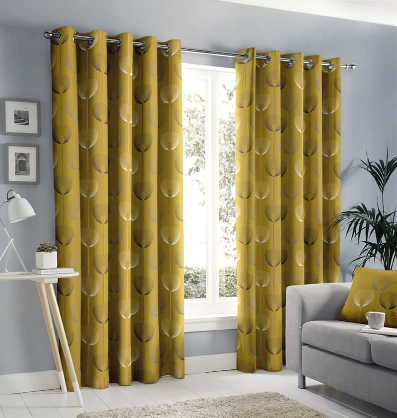Delta Ochre Ready Made Curtains