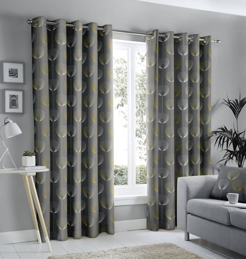 Delta Grey Ready Made Curtains