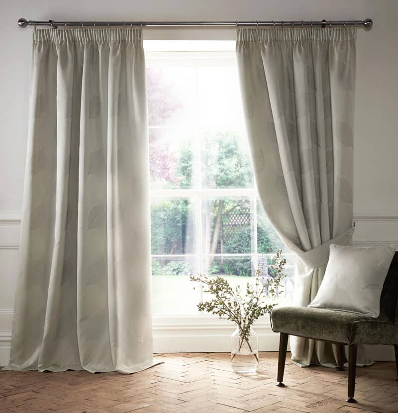 Ashwell Silver Ready Made Curtains