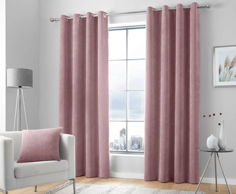 Kilbride Blush Ready Made Curtains