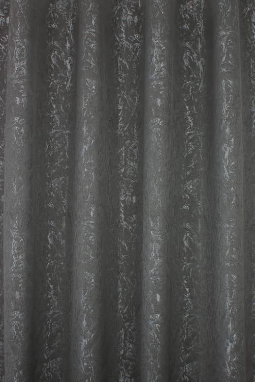 Cascade Grey Curtain Fabric