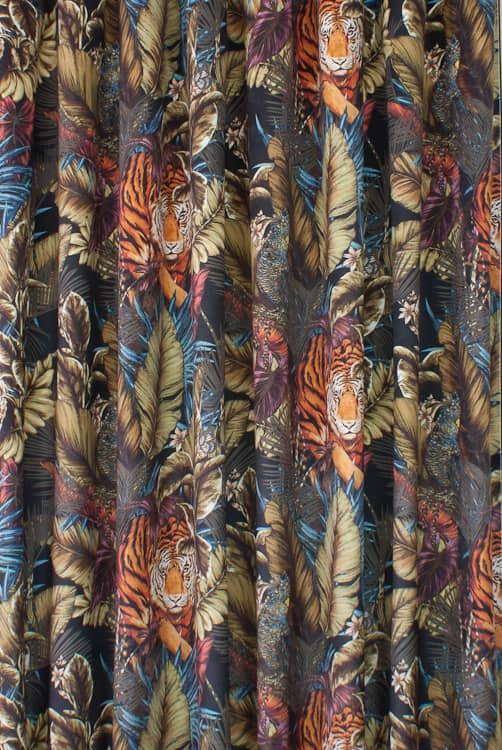 Bengal Tiger Velvet Amazon Made to Measure Curtains