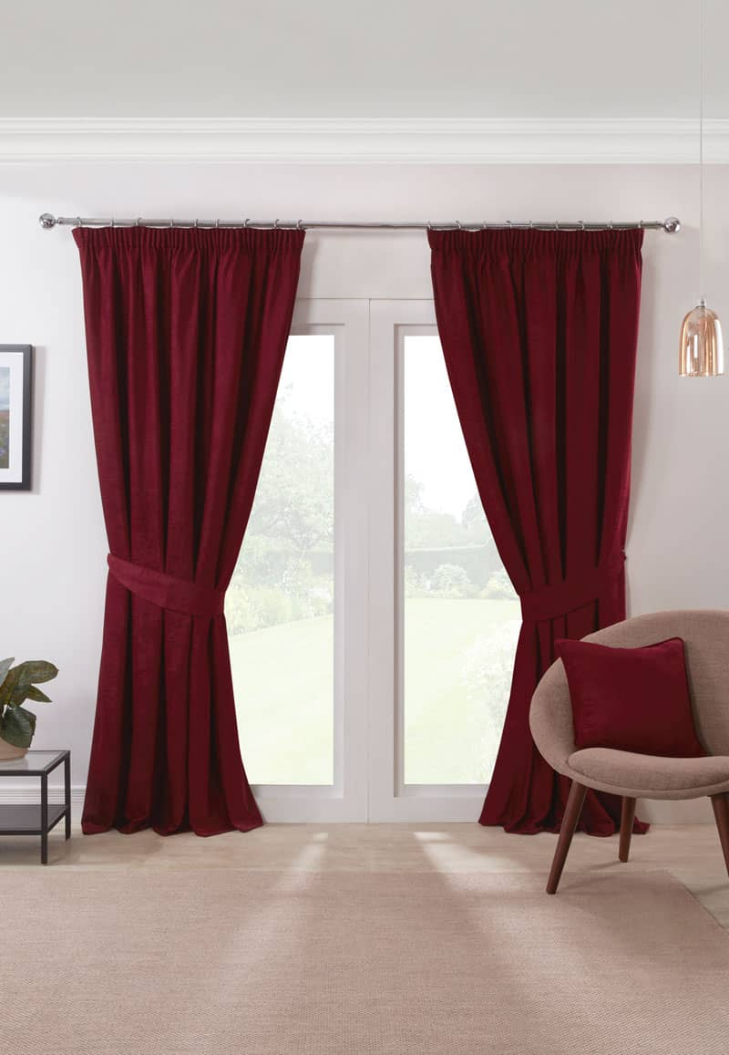 Austin Red Ready Made Curtains