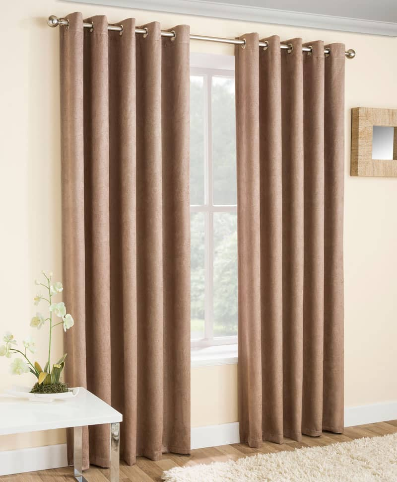 Vogue Latte Ready Made Curtains