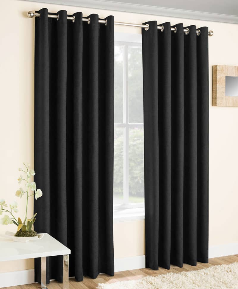 Vogue Black Ready Made Curtains