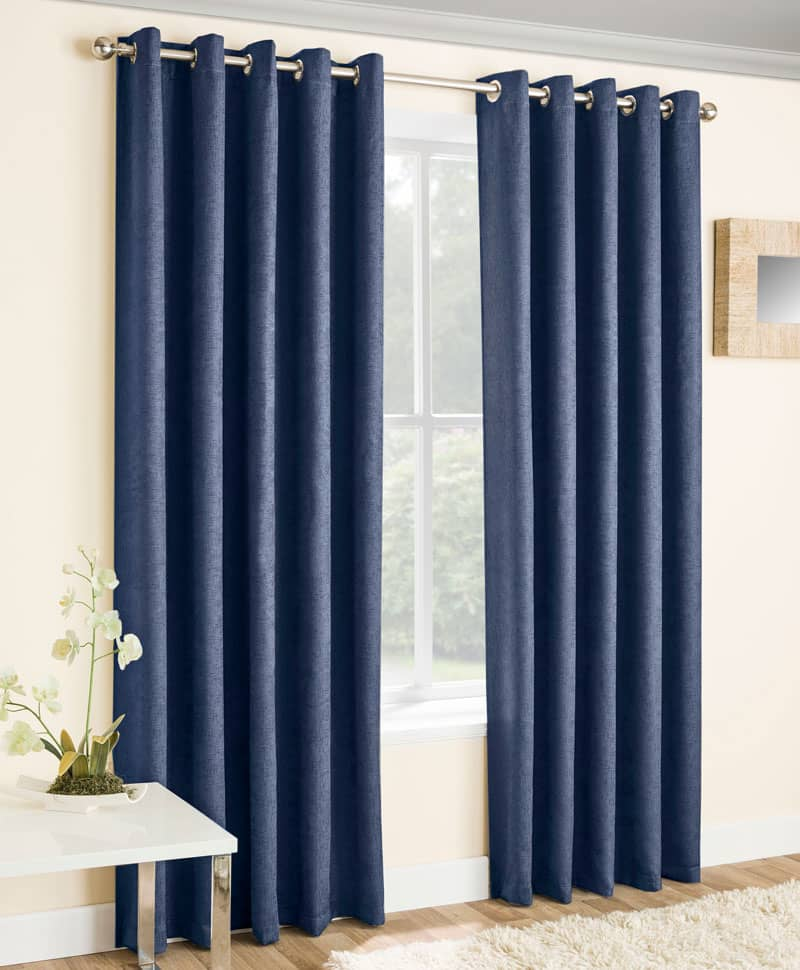 Vogue Navy Ready Made Curtains
