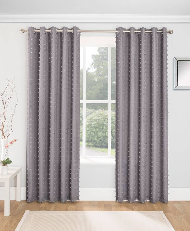 Aruba Charcoal Ready Made Curtains
