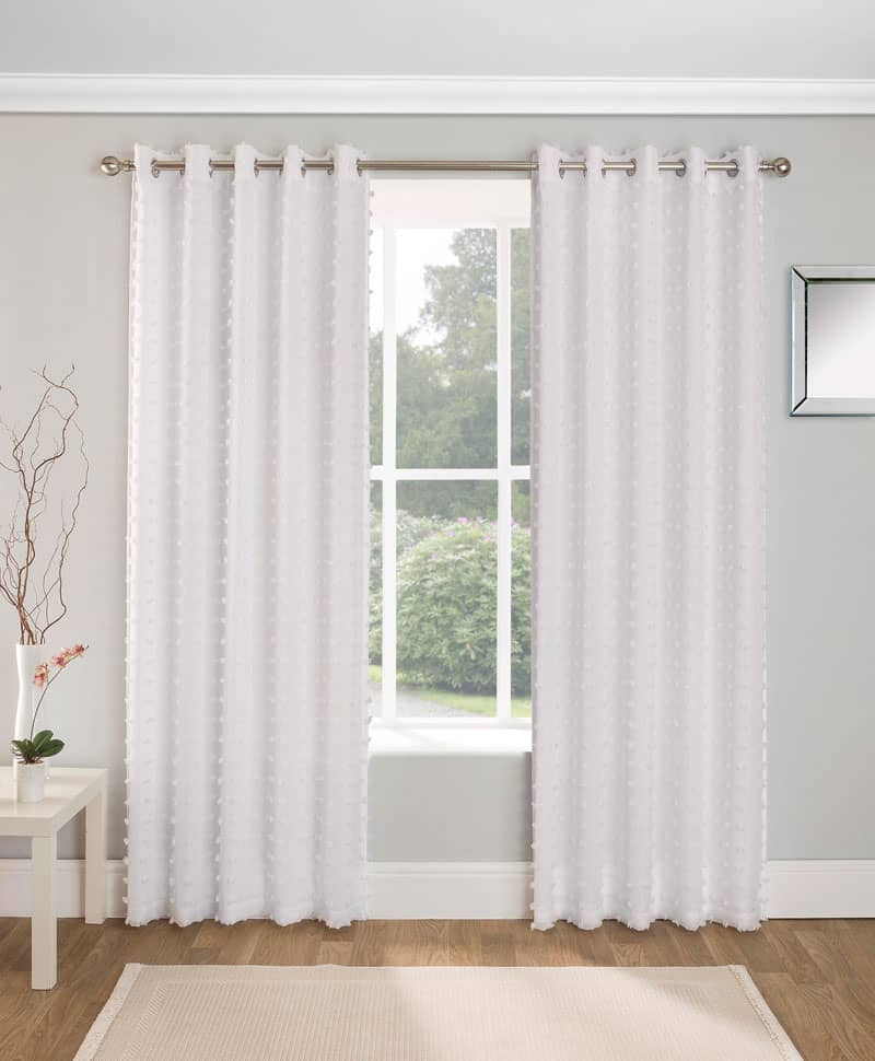 Aruba White Ready Made Curtains