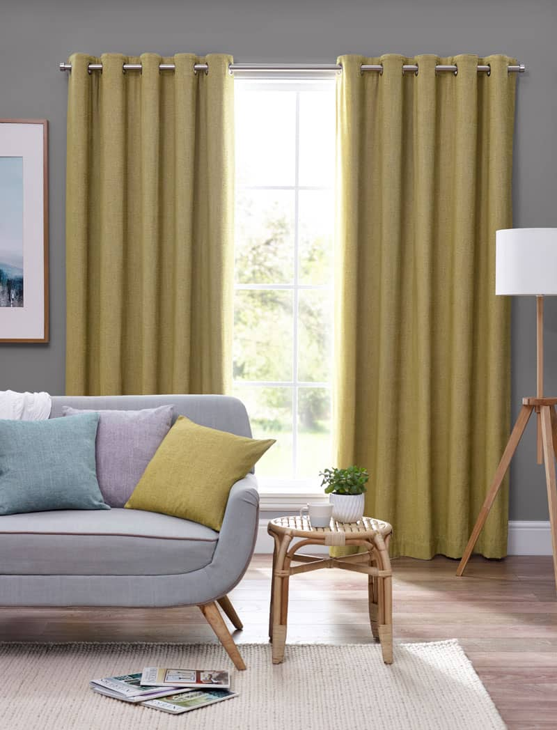 Orkney Ochre Ready Made Curtains