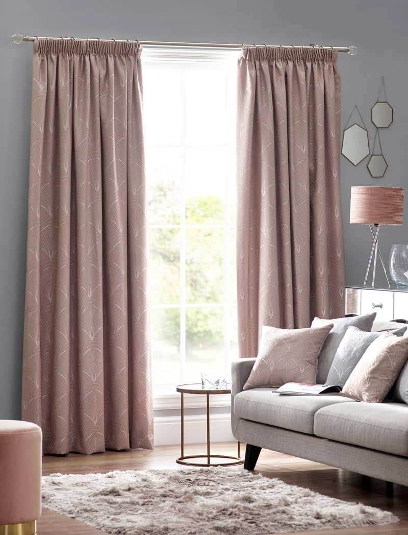 Metro Blush Ready Made Curtains