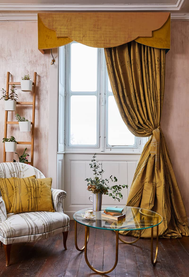 Bamboo Ochre Ready Made Curtains