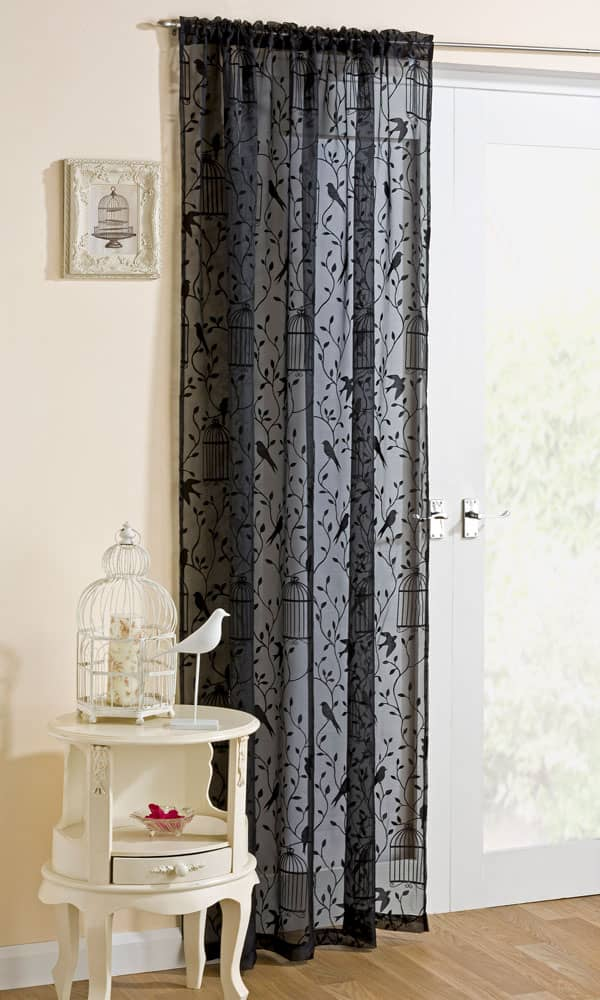 Nightingale Black Voiles & Voile Panels