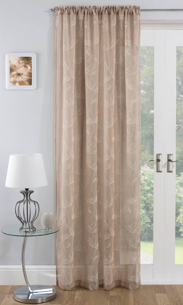 Freya Natural Panel Voiles & Voile Panels