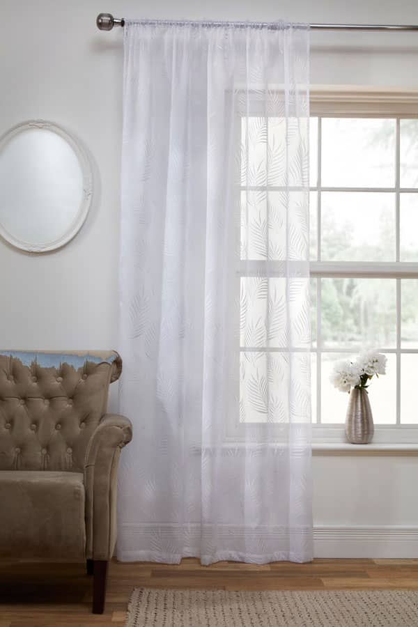 Fern White Voiles & Voile Panels