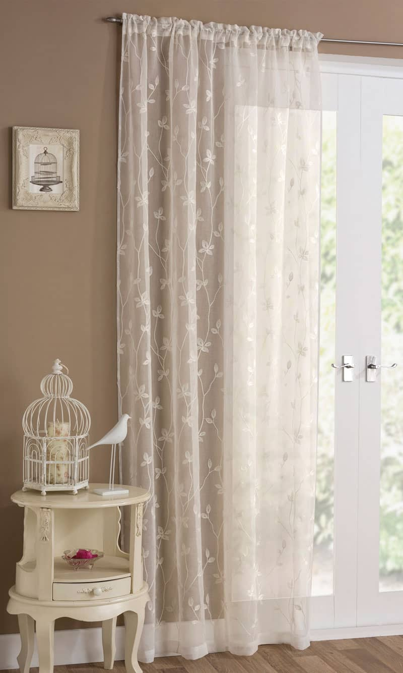 Florence Cream Voiles & Voile Panels