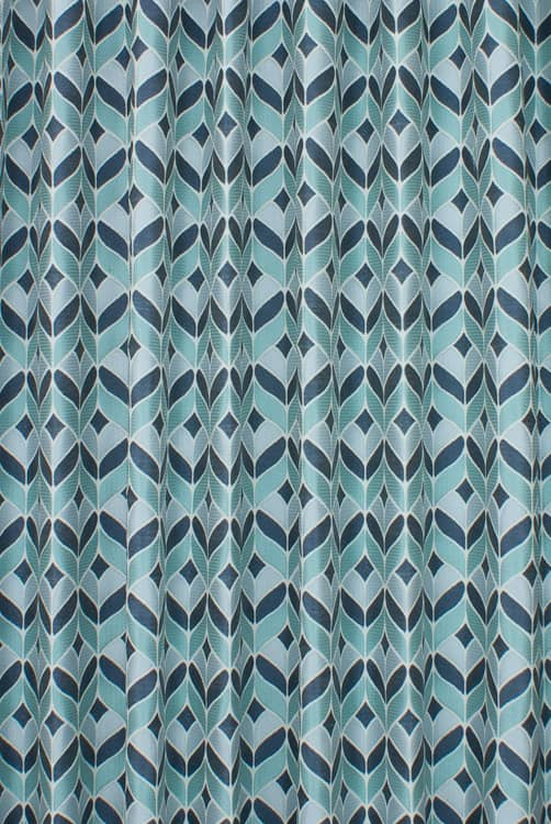 Illion Aqua Curtain Fabric