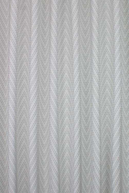 Mobius Silver Curtain Fabric