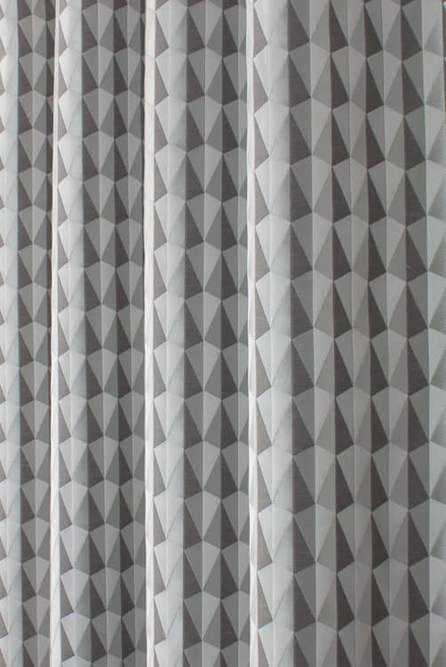 Shard Mercury Curtain Fabric